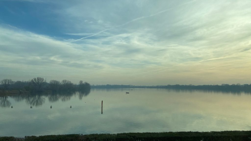 driving by the river from mantova