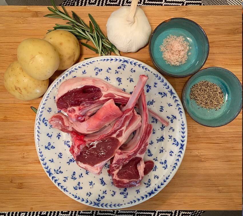 baked lamb chops with roast potatoes ingredients