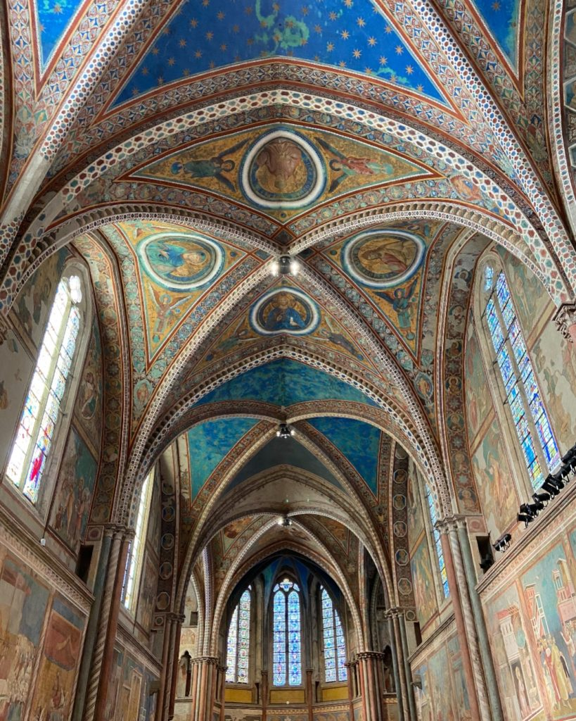 Grand frescoes of Basilica of St Francis of Assisi