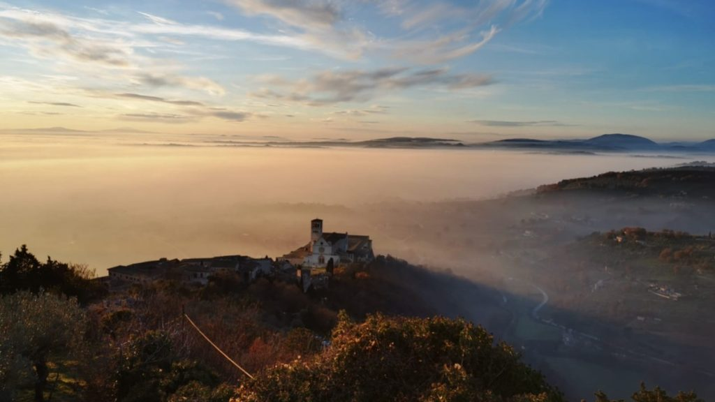Assisi above the clouds