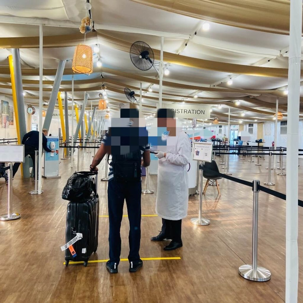 Inside Covid test centre at Changi Airport