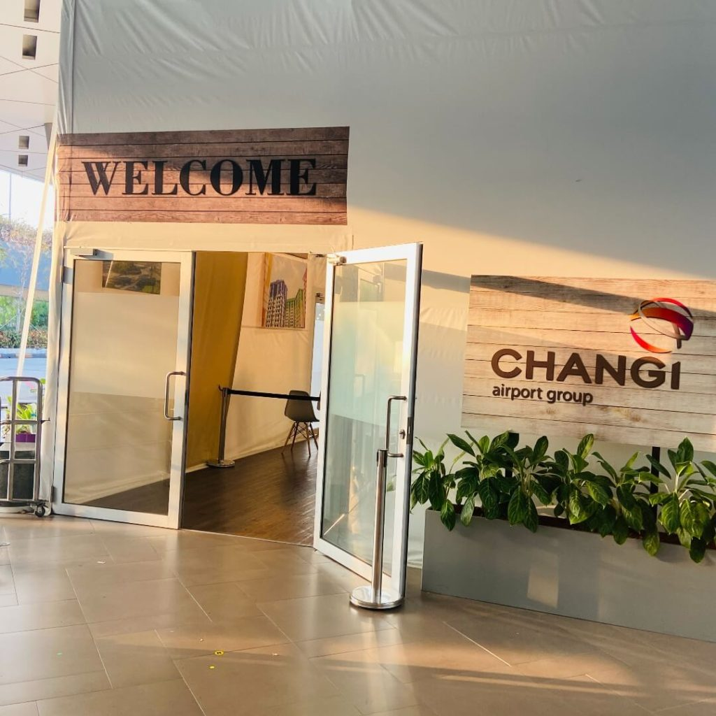 Covid test centre at Changi Airport
