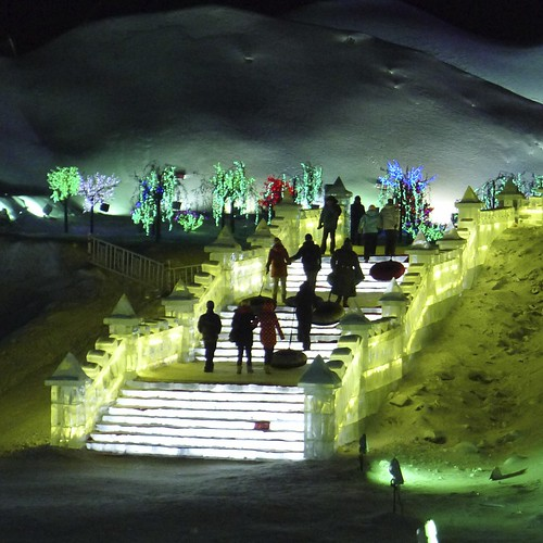 Harbin Ice World steps